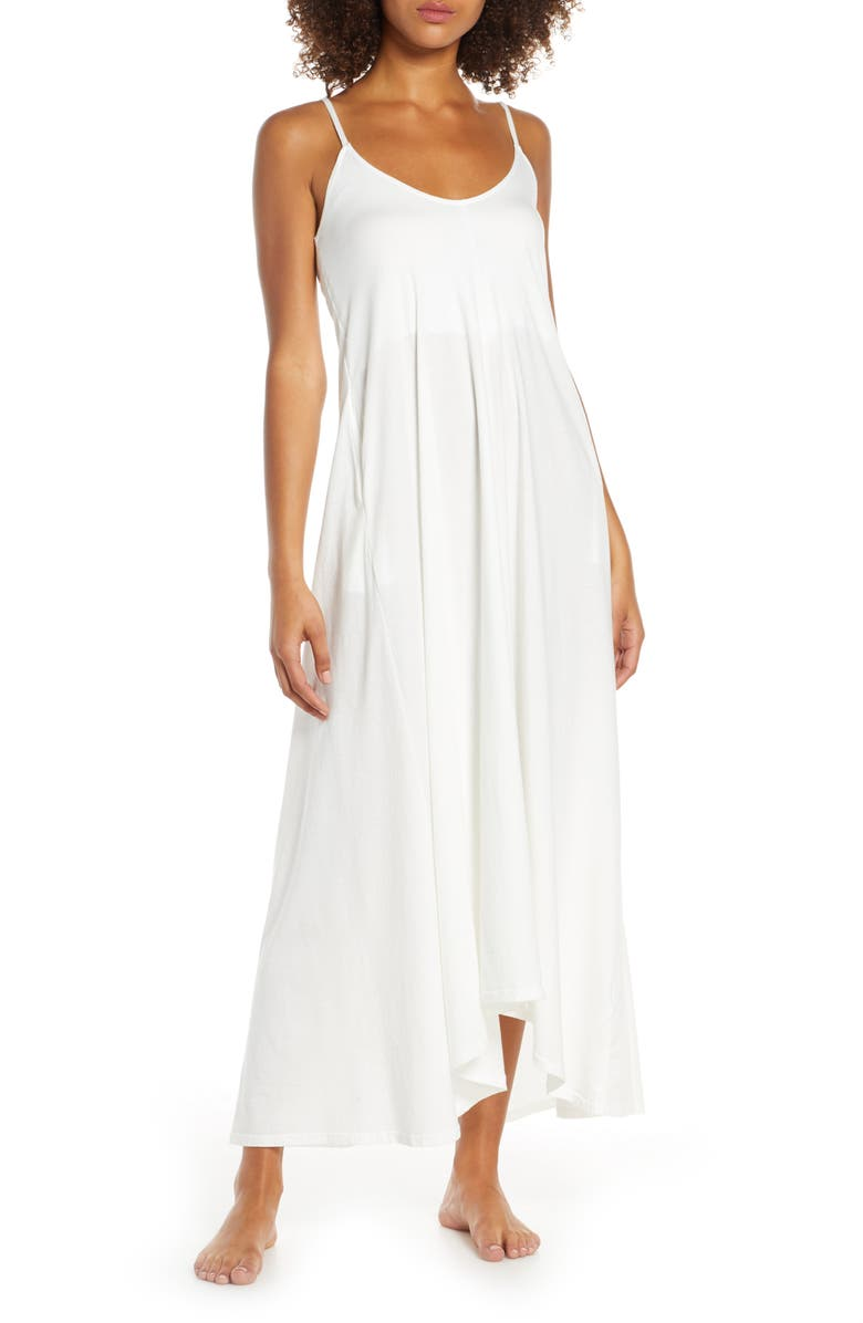 GROCERIES APPAREL Ava Organic Cotton Nightgown, Main, color, WHITE