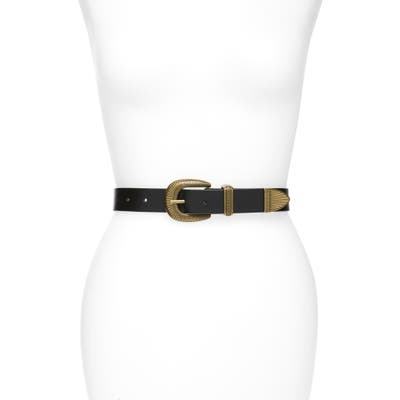 Treasure & Bond Western Jean Leather Belt, Black