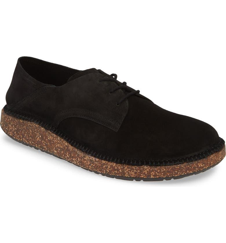 BIRKENSTOCK Gary Plain Toe Derby, Main, color, BLACK