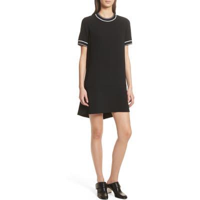 Rag & Bone Thatch Crepe Shift Dress, Black