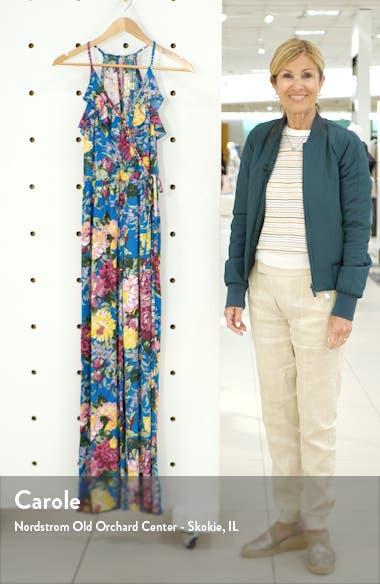 Amazonite Floral Print Jumpsuit, sales video thumbnail