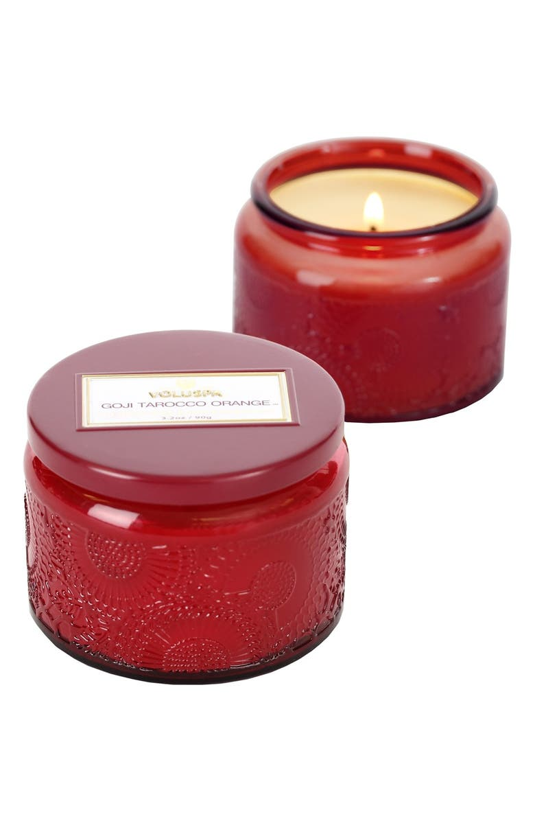 VOLUSPA 'Japonica - Goji Tarocco Orange' Petite Colored Jar Candle, Main, color, 000