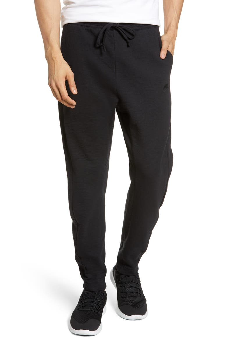 NIKE NSW Tech Jersey Sweatpants, Main, color, BLACK