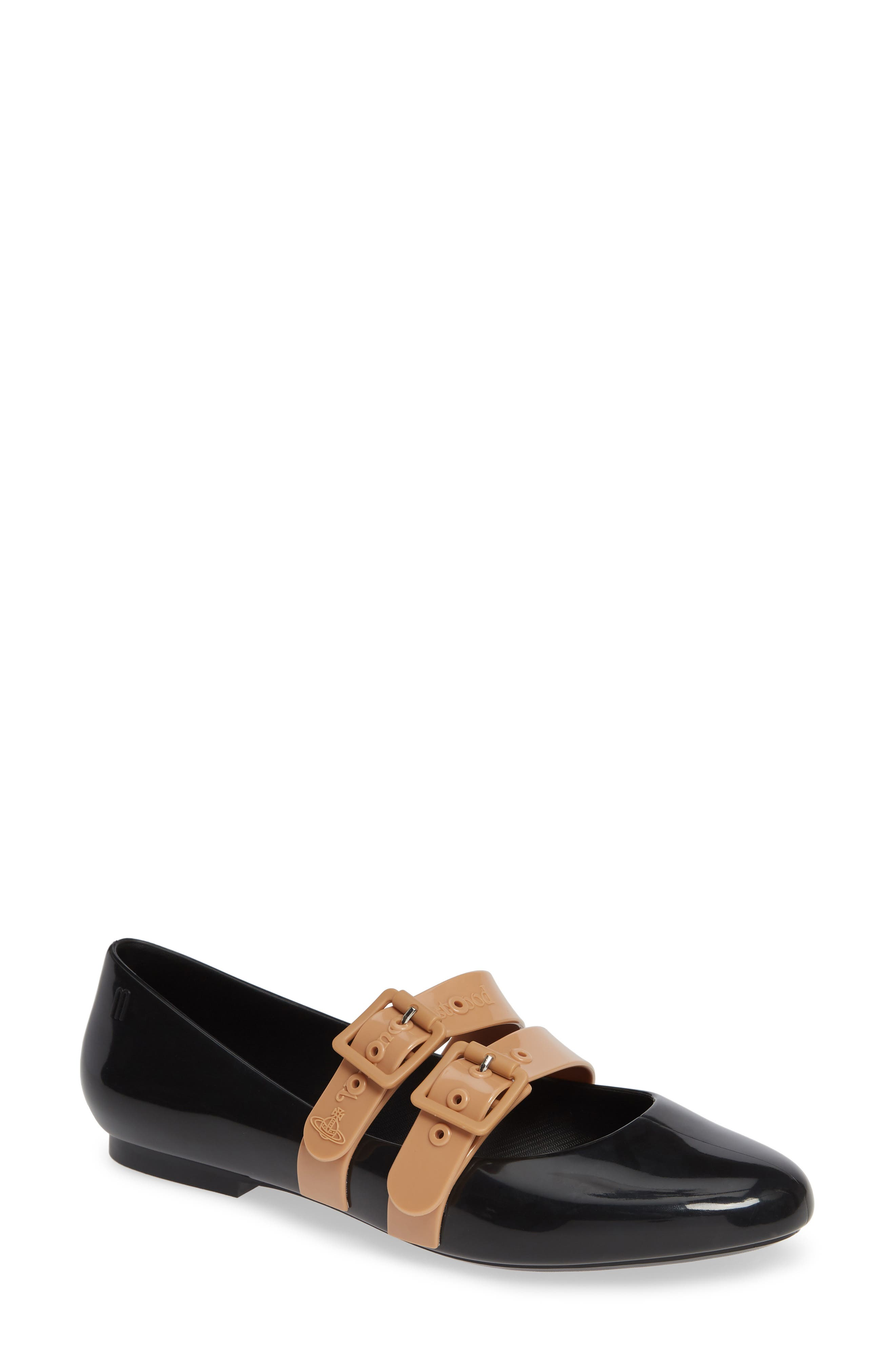 Image of Melissa Double Buckle Patent Flat