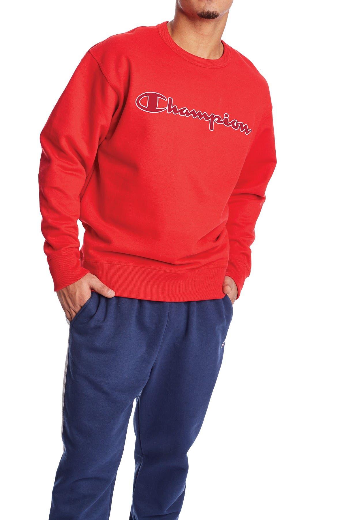Image of Champion Powerblend Applique Sweatshirt