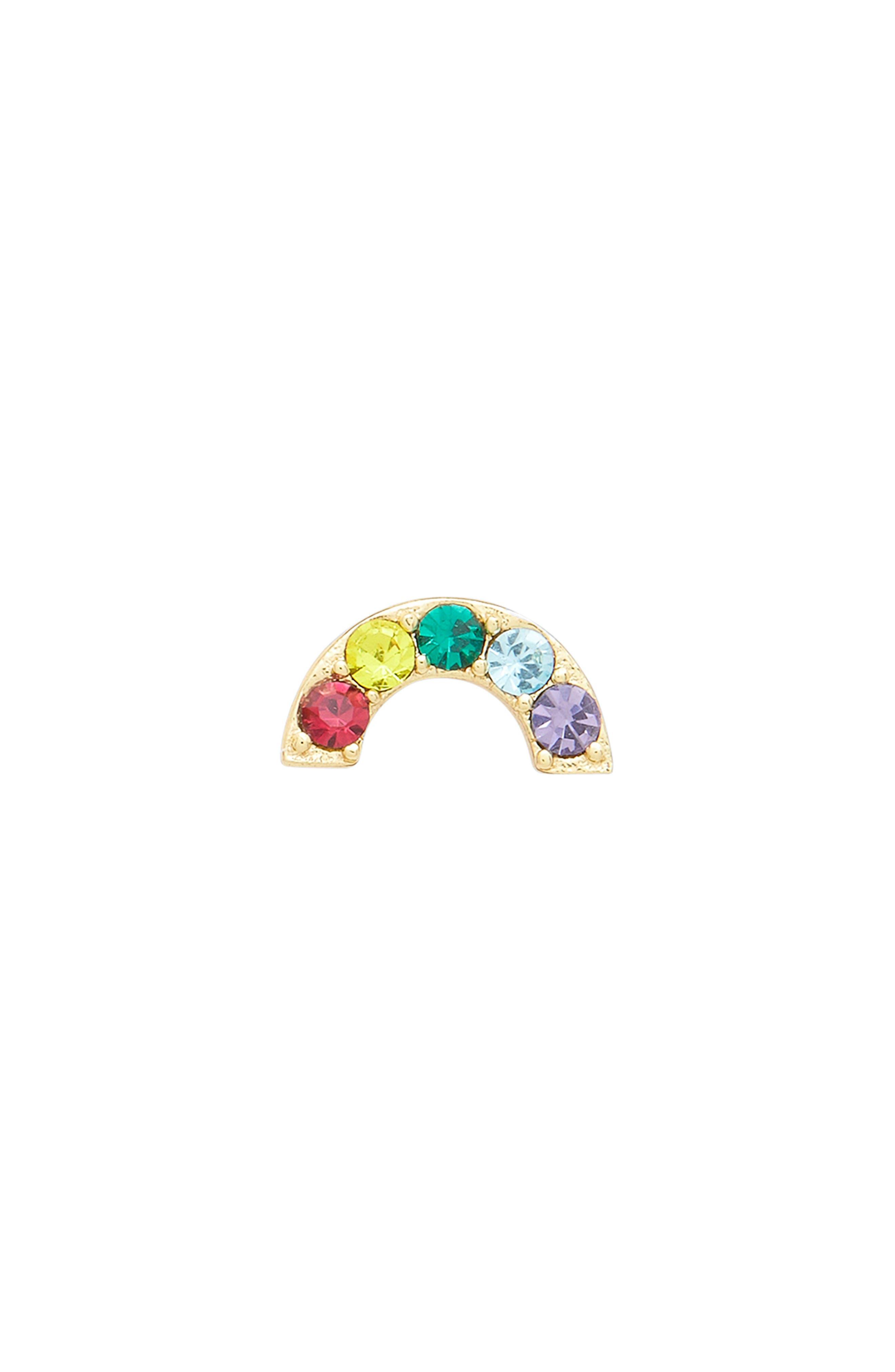 Single Rainbow Stud Earring