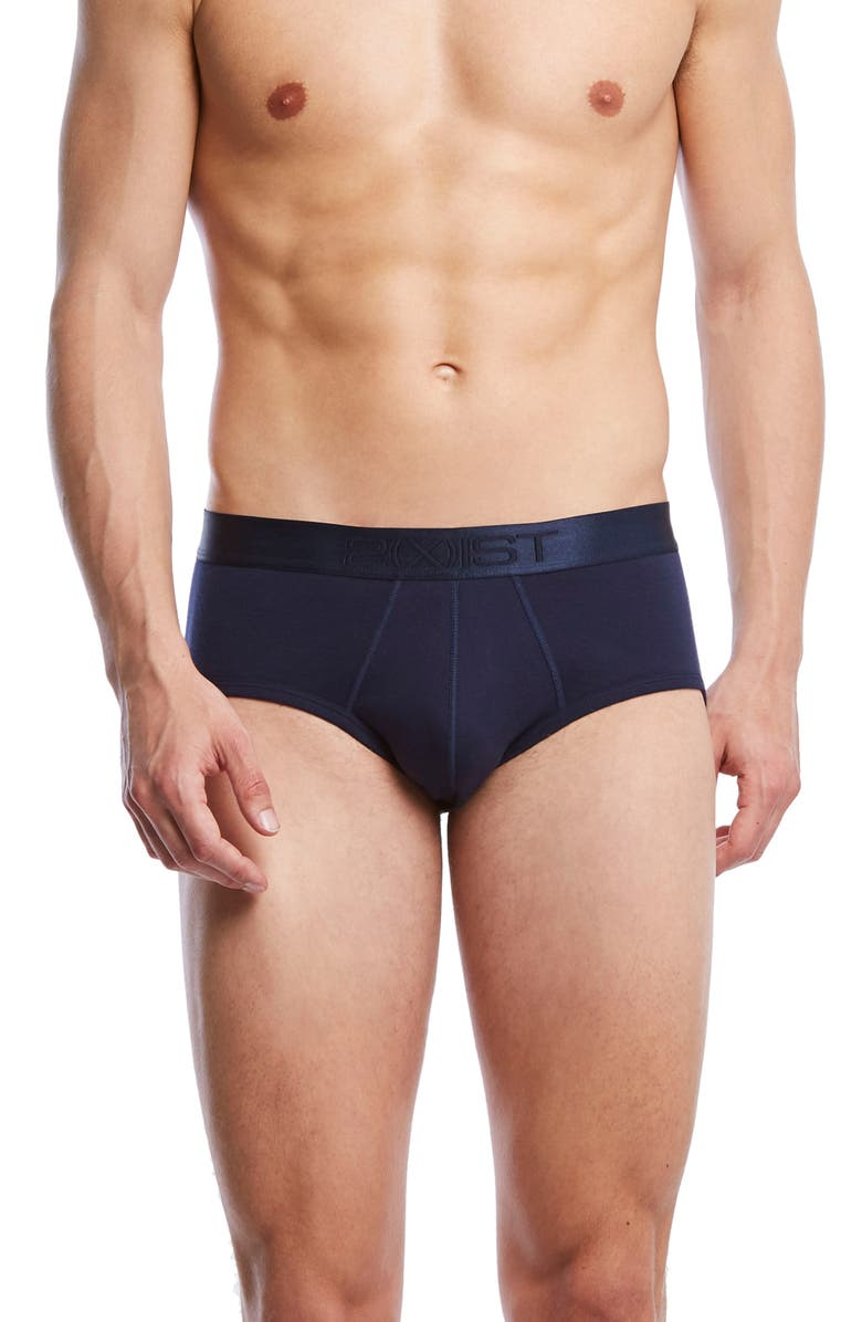 2(X)IST Pima Cotton Contour Pouch Briefs, Main, color, NAVY BLAZER