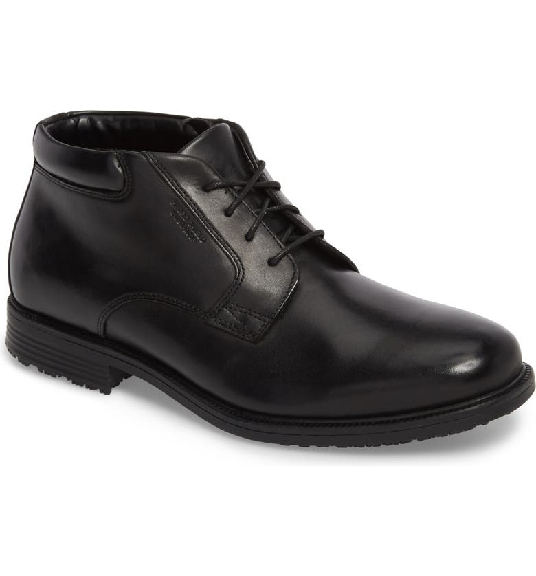 ROCKPORT 'Essential Details' Chukka Boot, Main, color, BLACK LEATHER