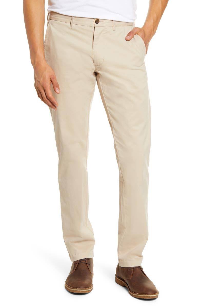1901 Ballard Slim Fit Peached Twill Chino Pants, Main, color, BEIGE HUMUS