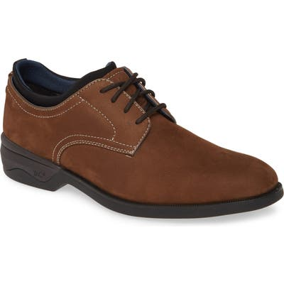 Johnston & Murphy Elkins Waterproof Plain Toe Derby, Brown