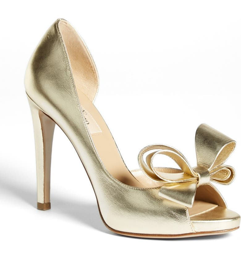 VALENTINO 'Couture Bow' D'Orsay Pump, Main, color, 710