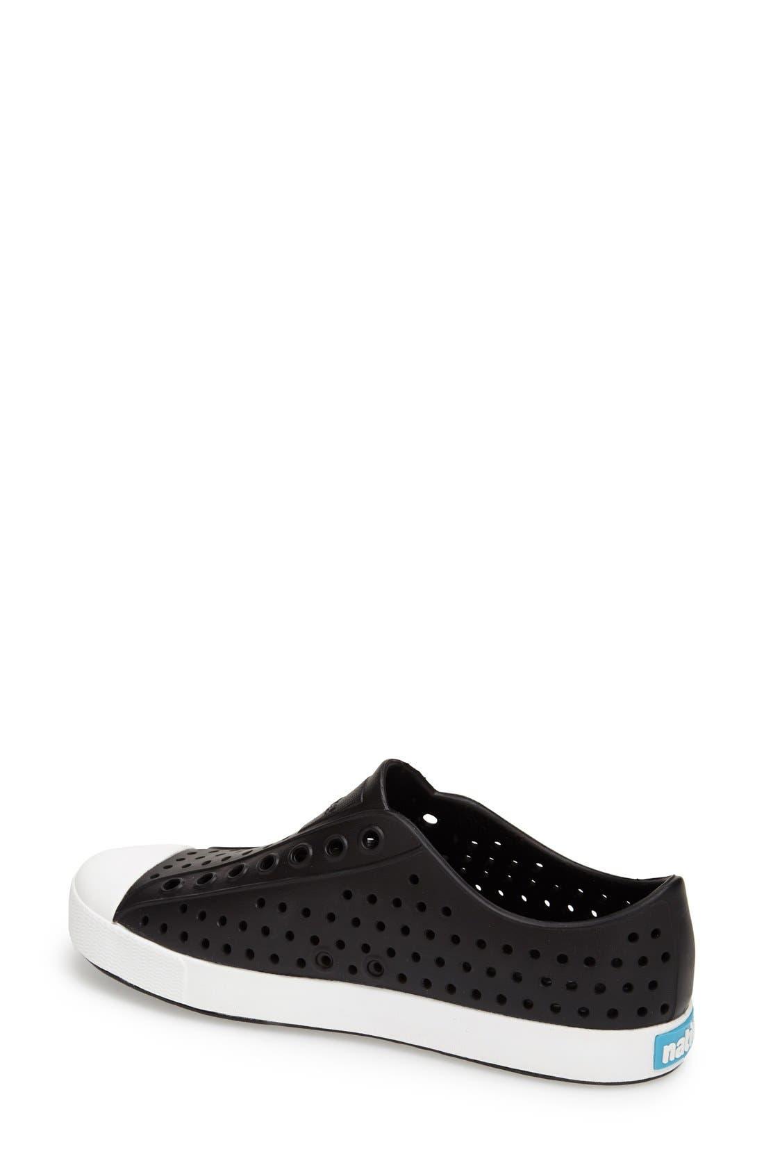 ,                             Jefferson Vegan Perforated Sneaker,                             Alternate thumbnail 2, color,                             BLACK/ WHITE