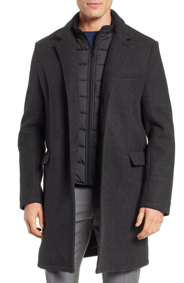 ANDREW MARC Westcott Wool Car Coat, Main, color, 001