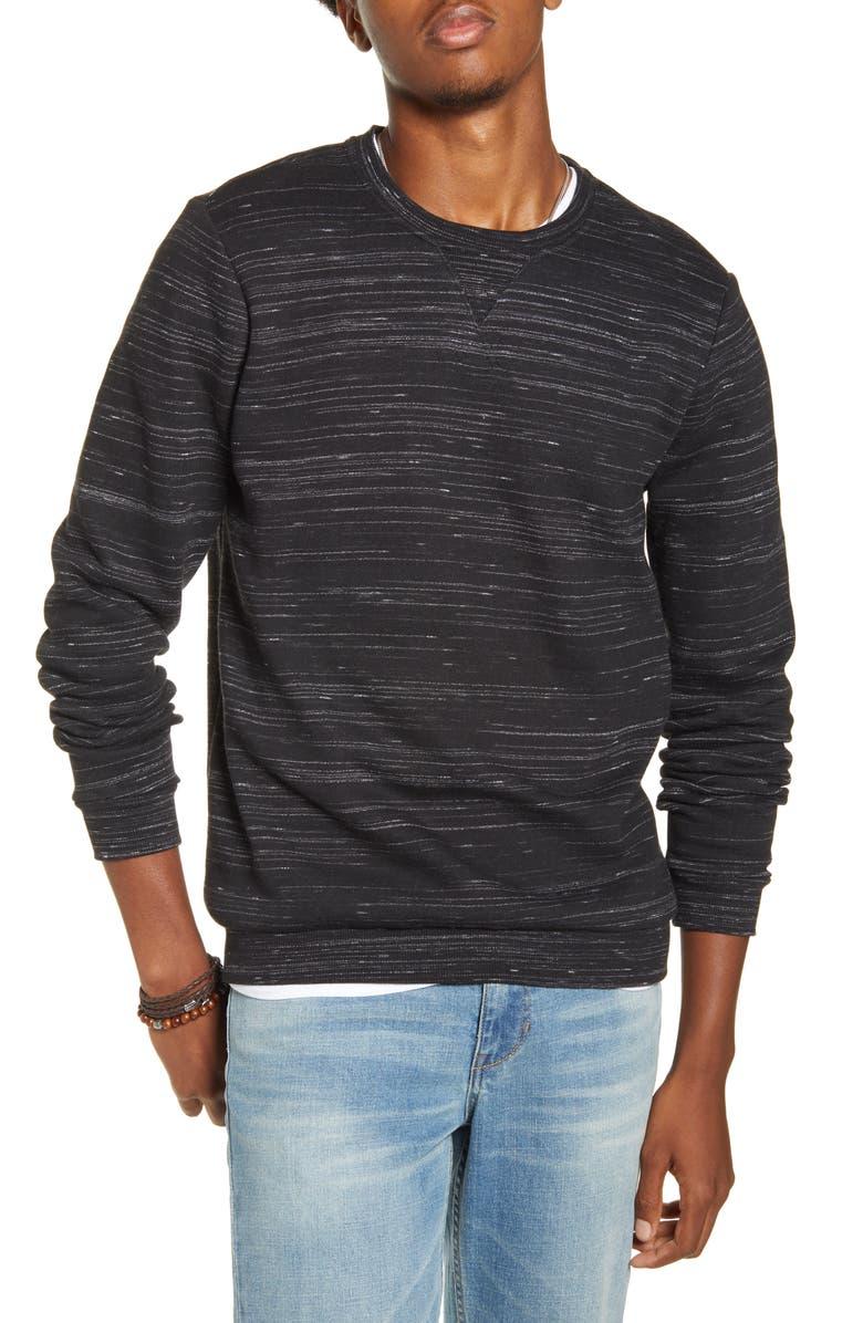 BP. Slub Fleece Sweatshirt, Main, color, 001