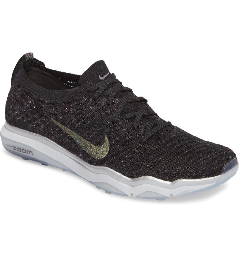 NIKE Air Zoom Fearless Flyknit Metallic Training Shoe, Main, color, 001