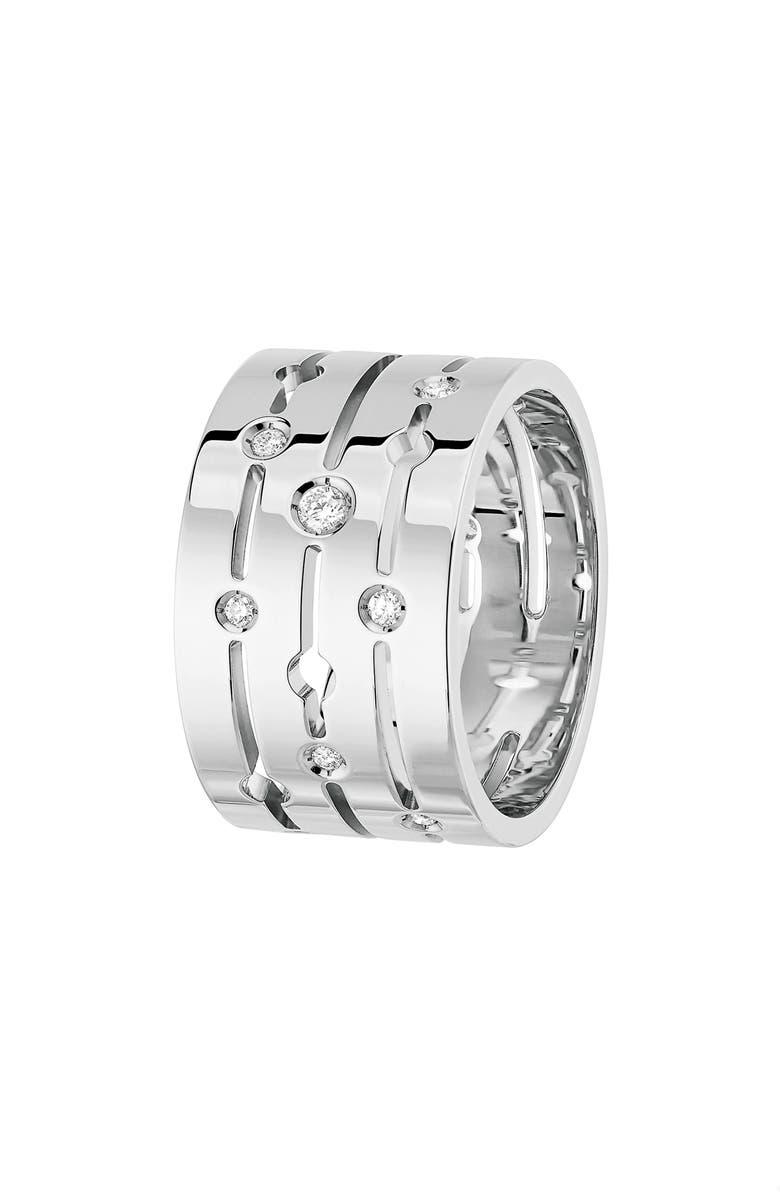 DINH VAN Pulse Large Diamond 18K Gold Ring, Main, color, WHITE GOLD