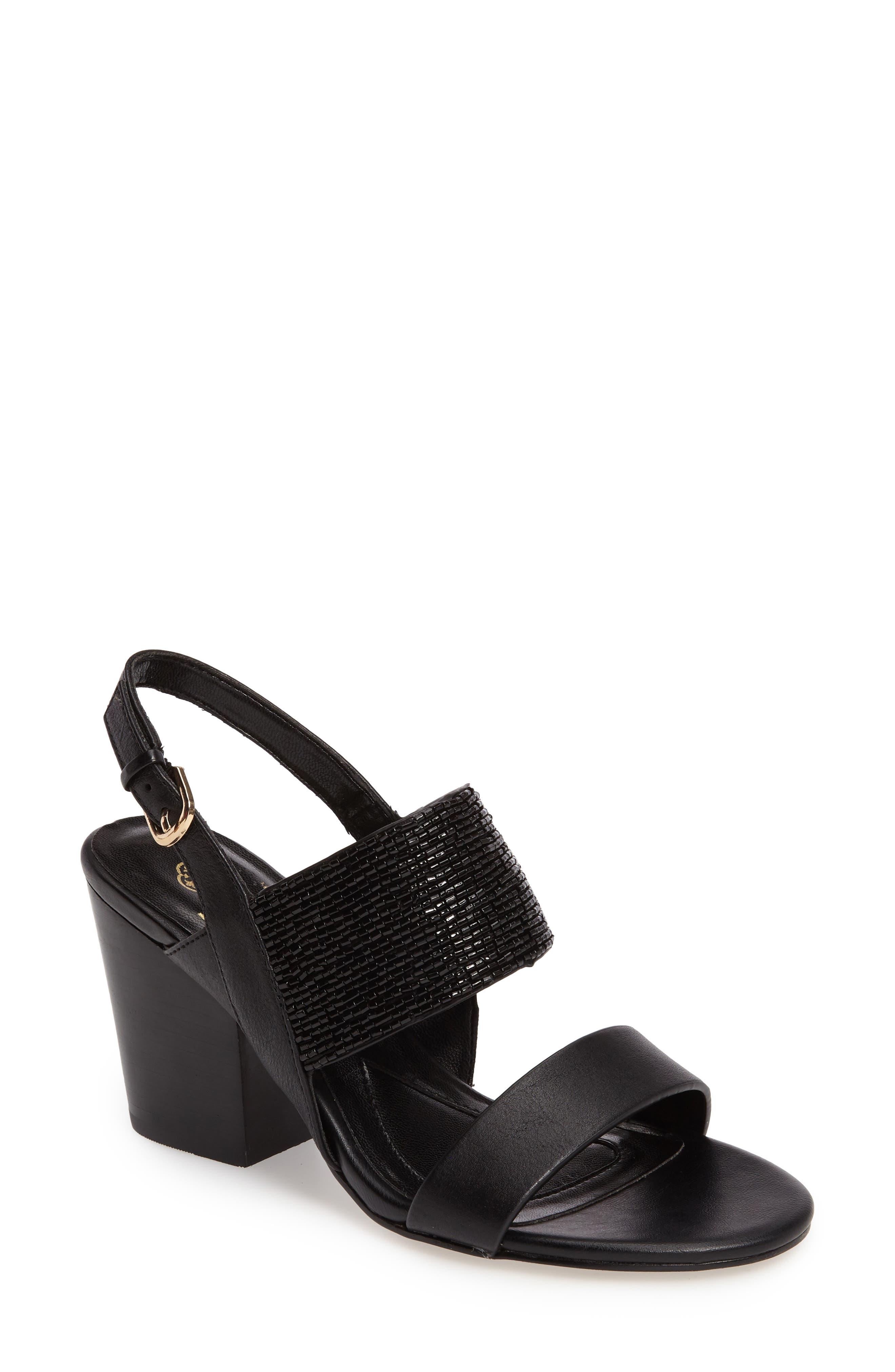 Isola Lia Block Heel Sandal, Black
