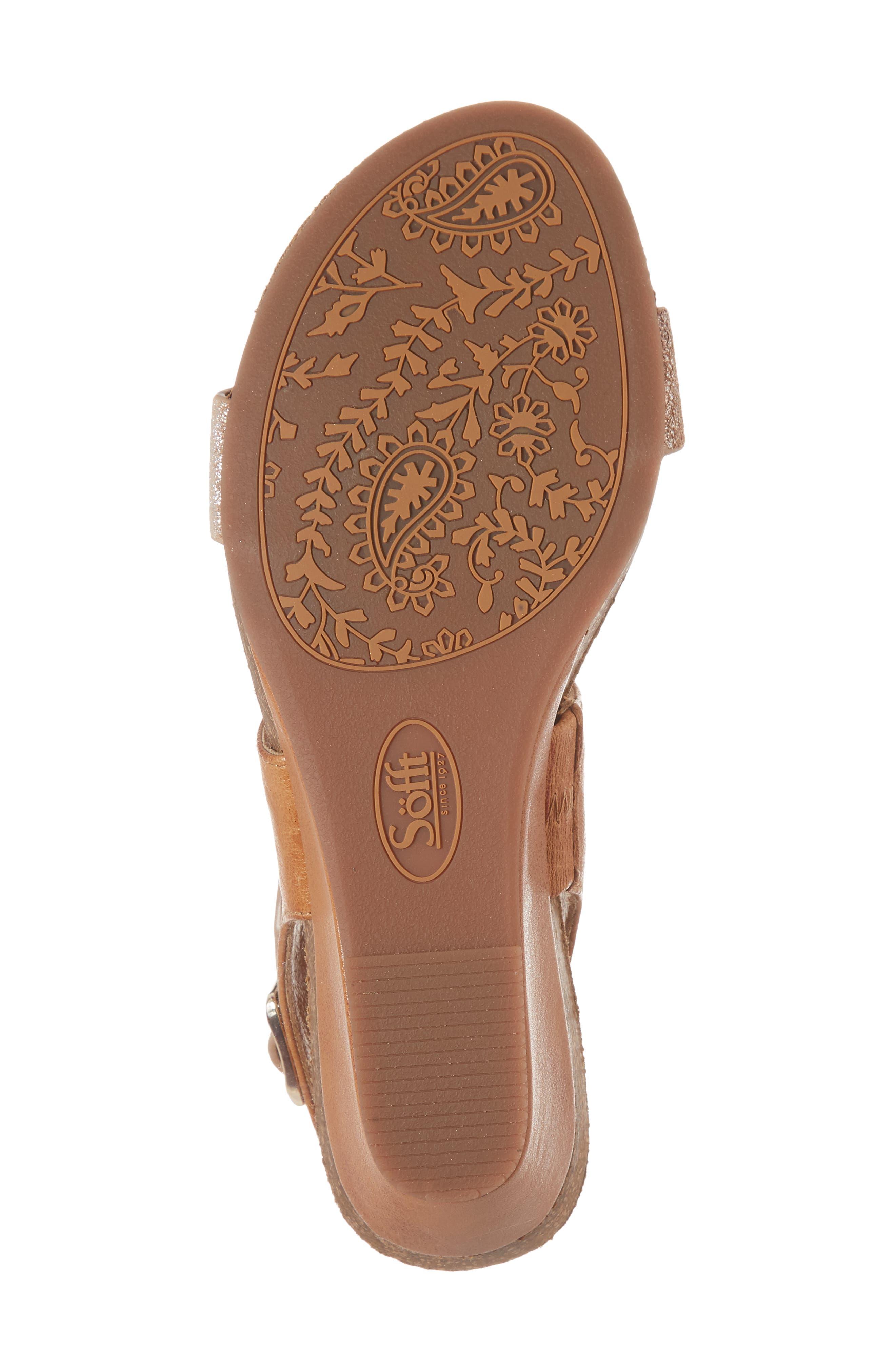 ,                             'Vanita' Leather Sandal,                             Alternate thumbnail 6, color,                             LUGGAGE/ SILVER LEATHER