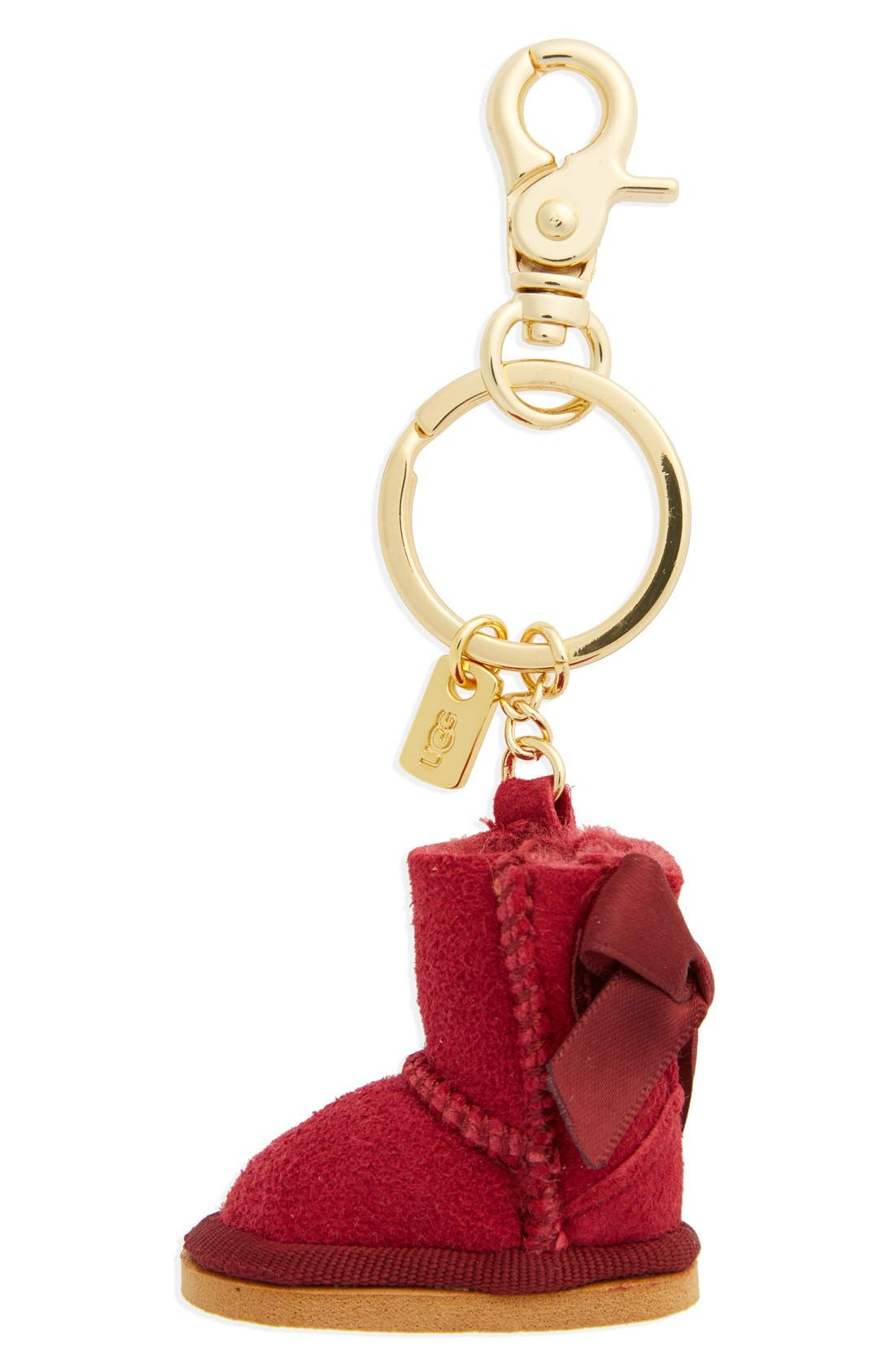 ,                             Australia 'Bailey Bow Boot' Genuine Shearling Bag Charm,                             Main thumbnail 9, color,                             930
