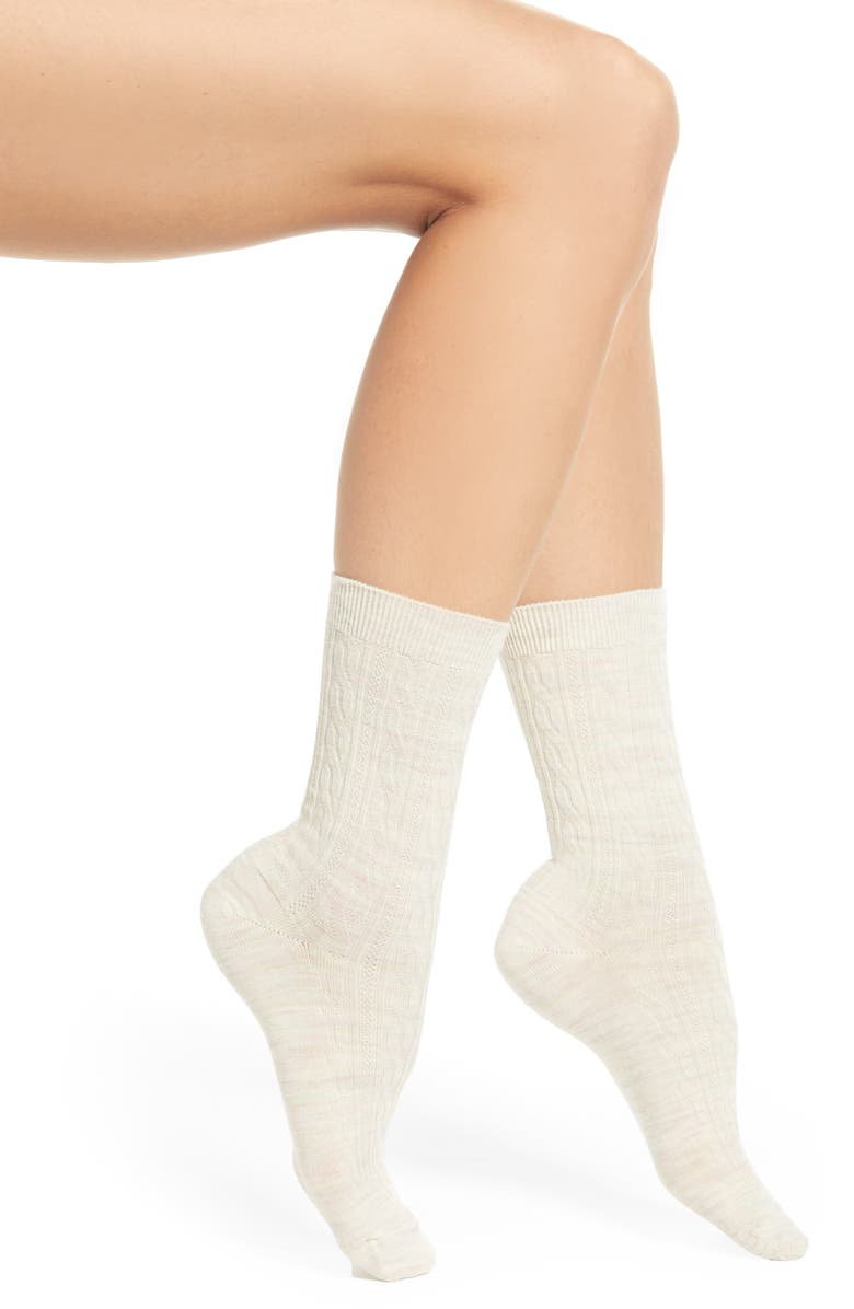 SMARTWOOL 'Cable II' Crew Socks, Main, color, 110