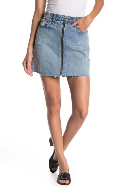 Image of Rag & Bone Anna Zip Denim Mini Skirt
