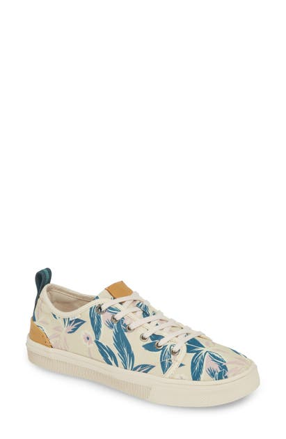 Toms Trvl Lite Low Top Sneaker In Lilac Floral Print Fabric