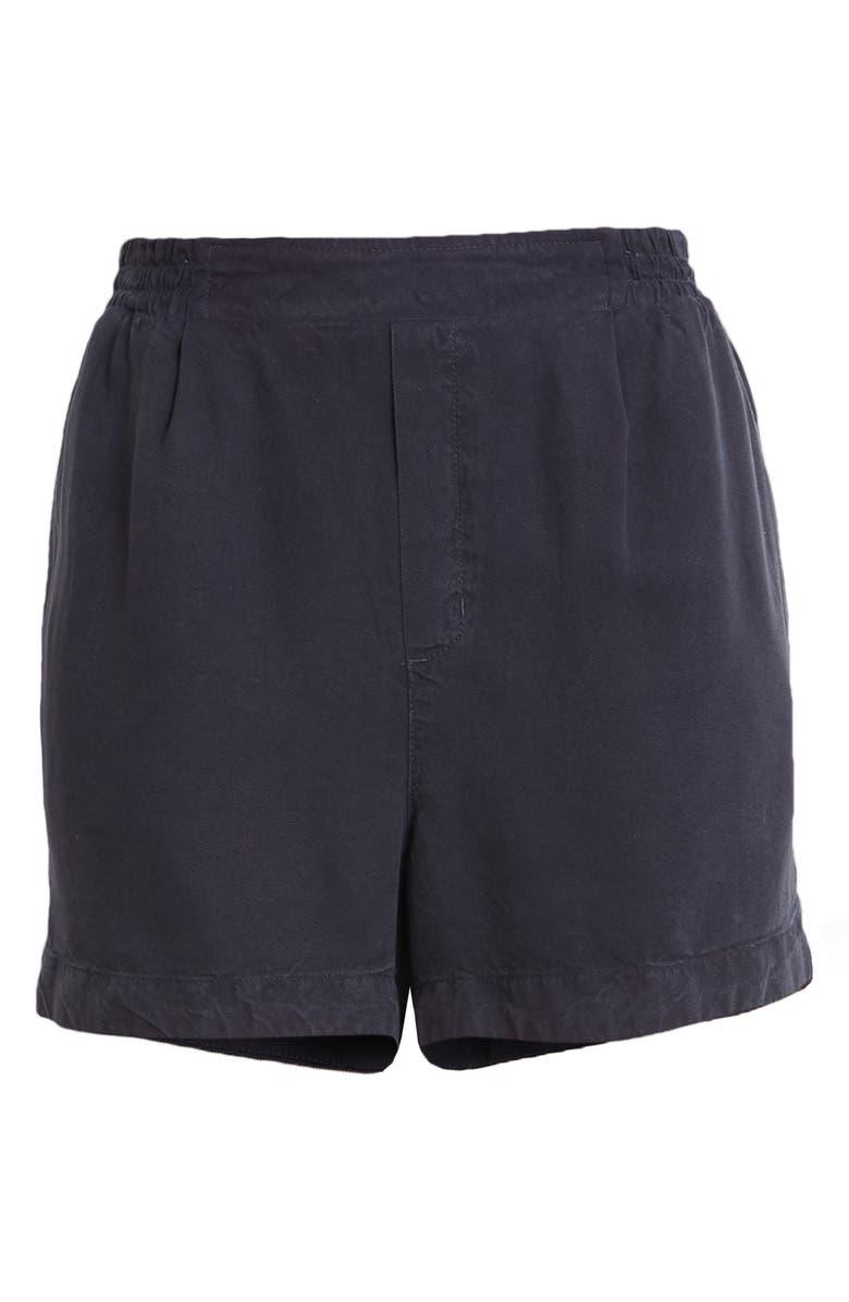 TREASURE & BOND Smocked Waist Shorts, Main, color, NAVY NIGHT