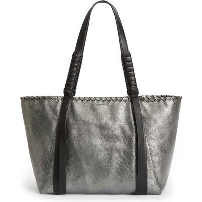 Allsaints Miki East/west Leather Tote - Metallic
