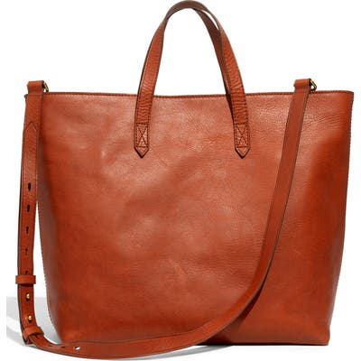 Madewell Zip Top Transport Leather Carryall - Brown