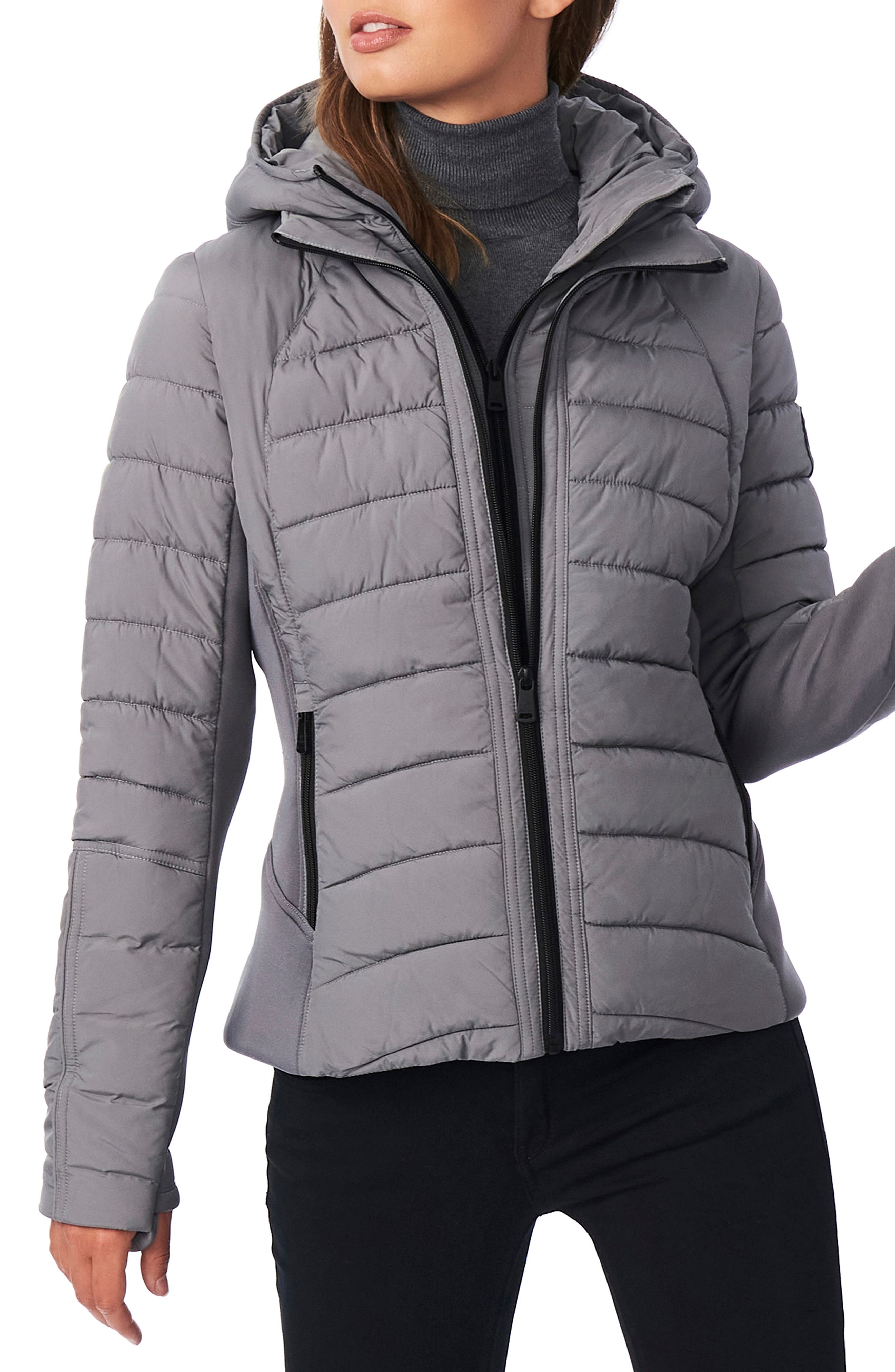 Hooded Quilted Water Repellent Jacket