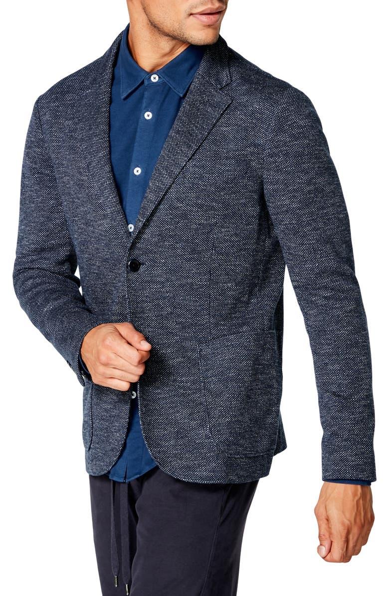 GOOD MAN BRAND Slim Fit Textured Sport Coat, Main, color, SKY CAPTAIN