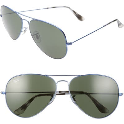 Ray-Ban 62mm Aviator Sunglasses - Sand Transparent Grey