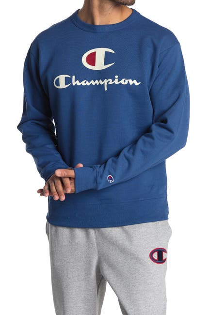 Image of Champion Powerblend Graphic Crew Sweatshirt