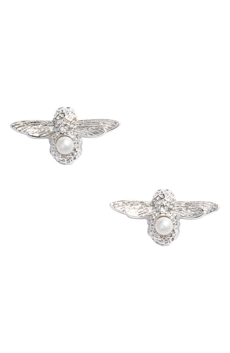 OLIVIA BURTON 3D Bee Stud Earrings, Main, color, 040