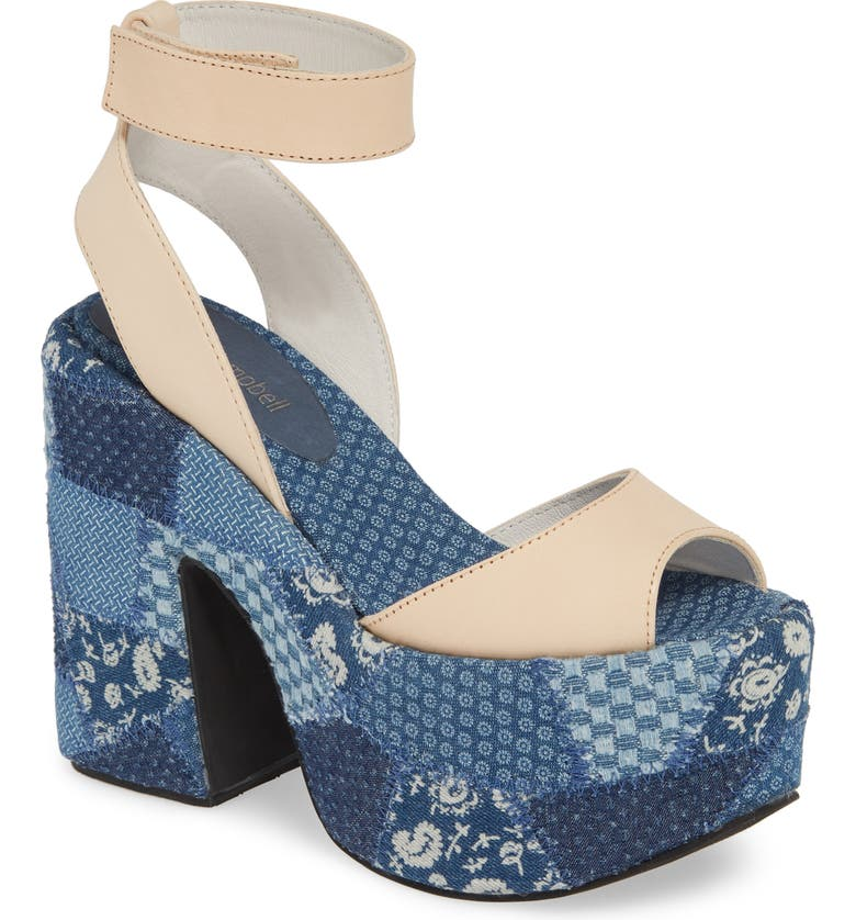 6dcd4ca7f7b8a Jeffrey Campbell Myla Patchwork Platform Sandal (Women)