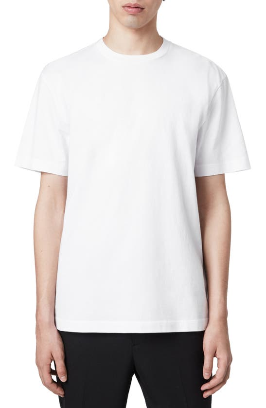 Allsaints Musica Slim Fit T-shirt In Optic White