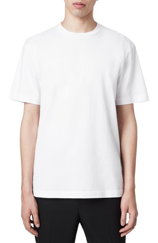 Allsaints Musica Slim Fit T-shirt In Optic White