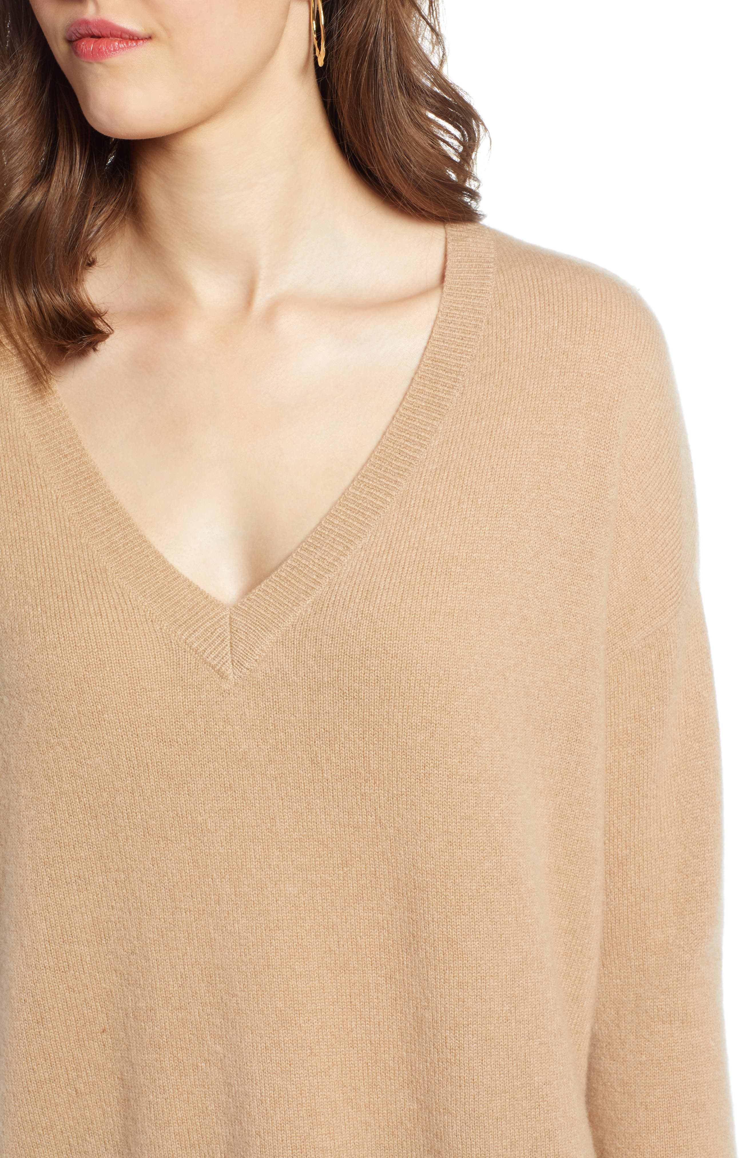 ,                             Relaxed V-Neck Cashmere Sweater,                             Alternate thumbnail 39, color,                             230