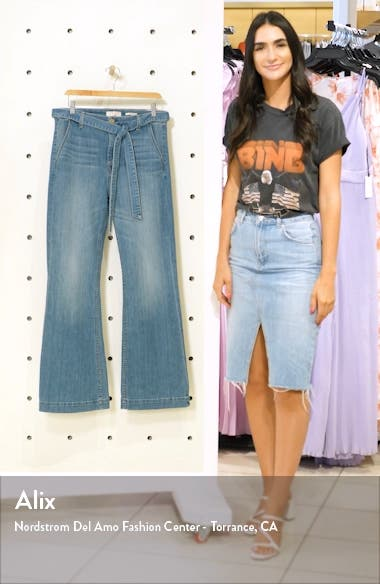Belted Flare Leg Jeans, sales video thumbnail