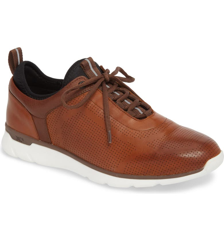 JOHNSTON & MURPHY Prentiss XC4<sup>®</sup> Waterproof Sneaker, Main, color, MAHOGANY LEATHER