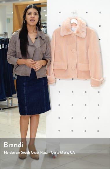 Regina Faux Fur Crop Teddy Jacket, sales video thumbnail