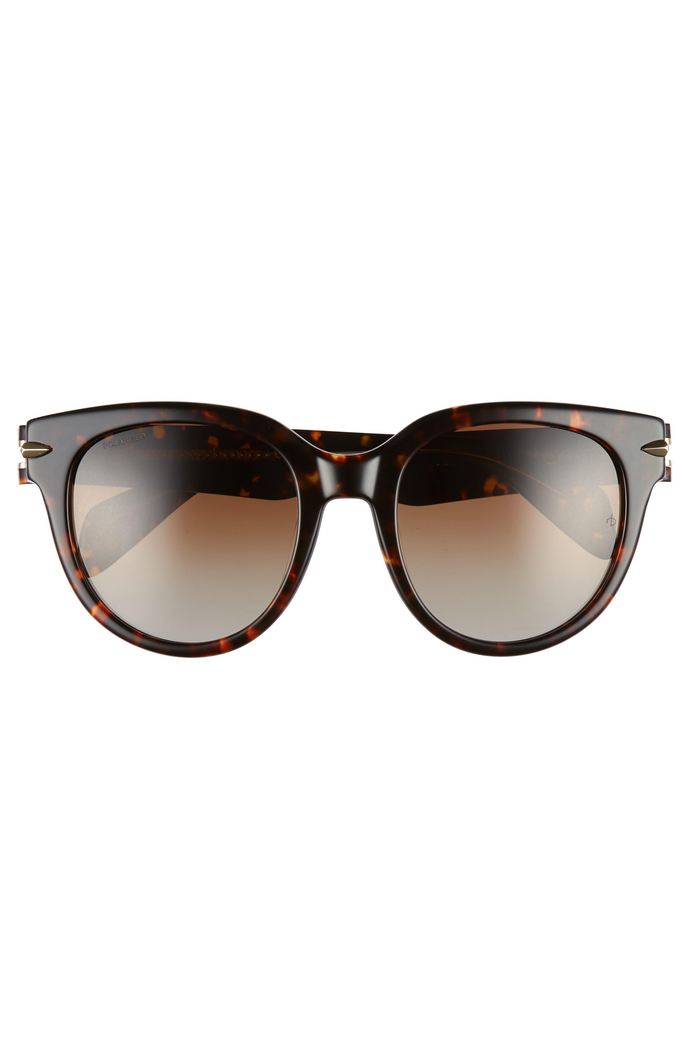 ,                             54mm Cat Eye Sunglasses,                             Alternate thumbnail 3, color,                             HAVANA/ CRYSTAL