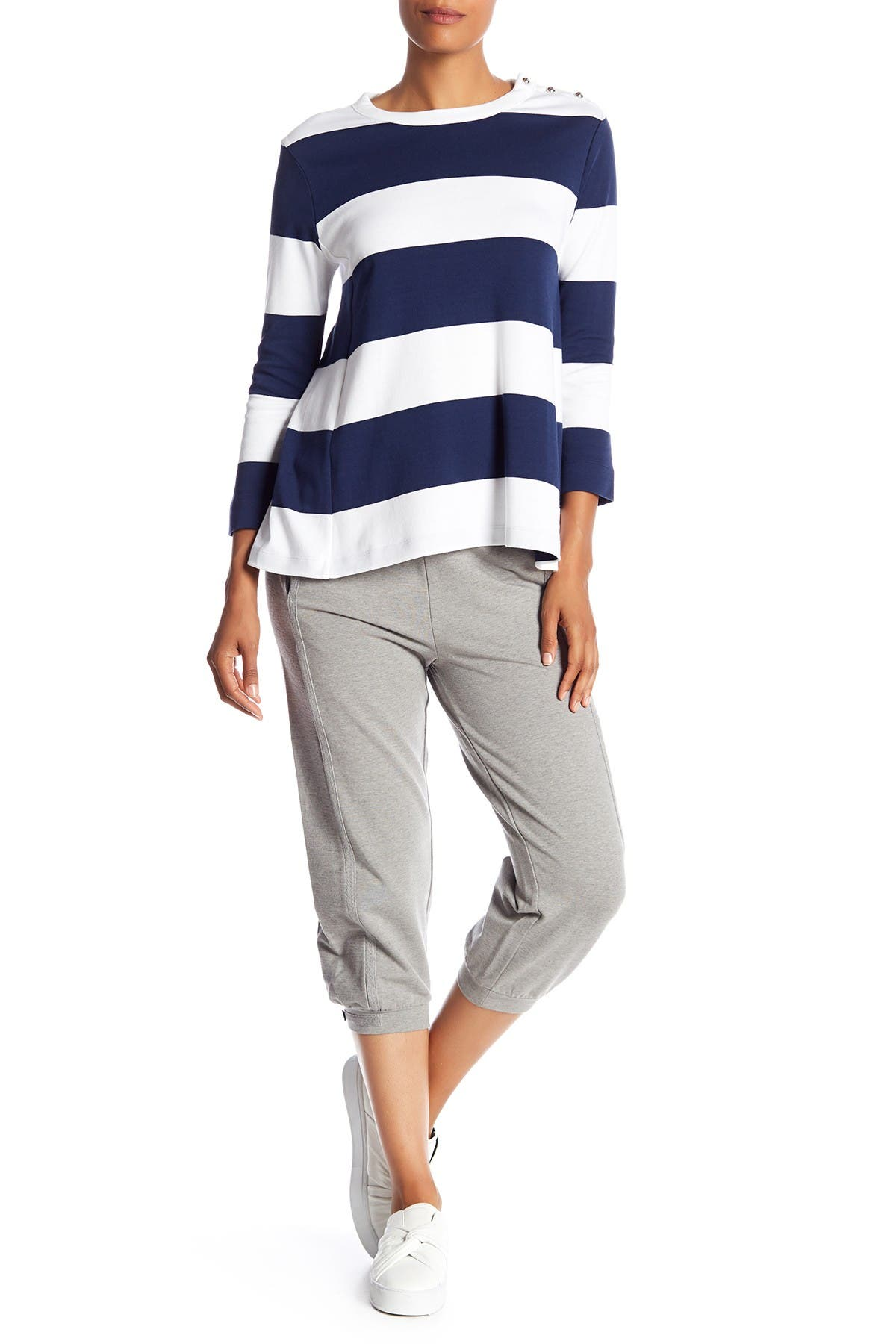 Image of Joan Vass Cropped Terry Sweatpants