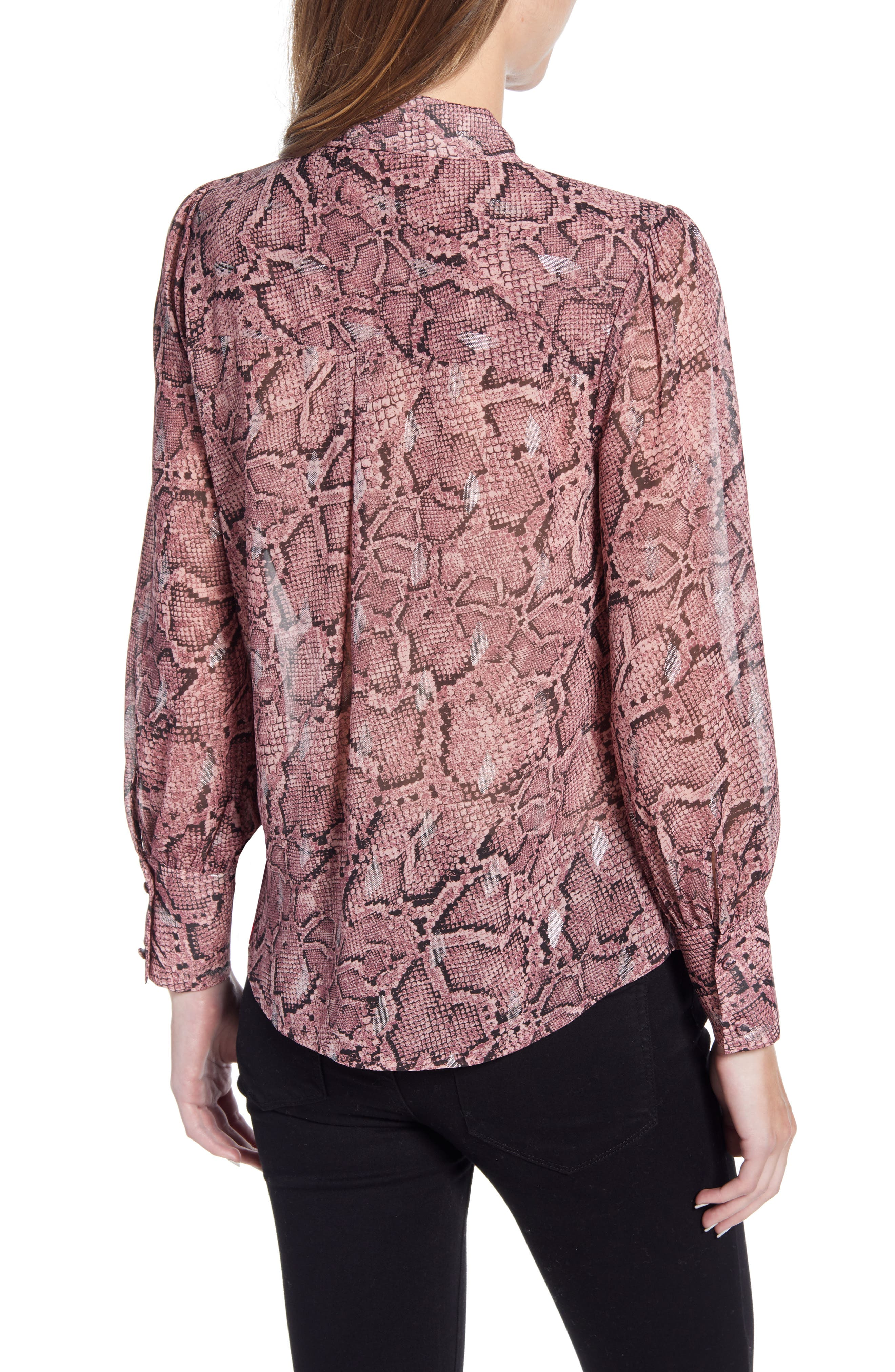 1.state Tops Snakeskin Print Button Front Blouse