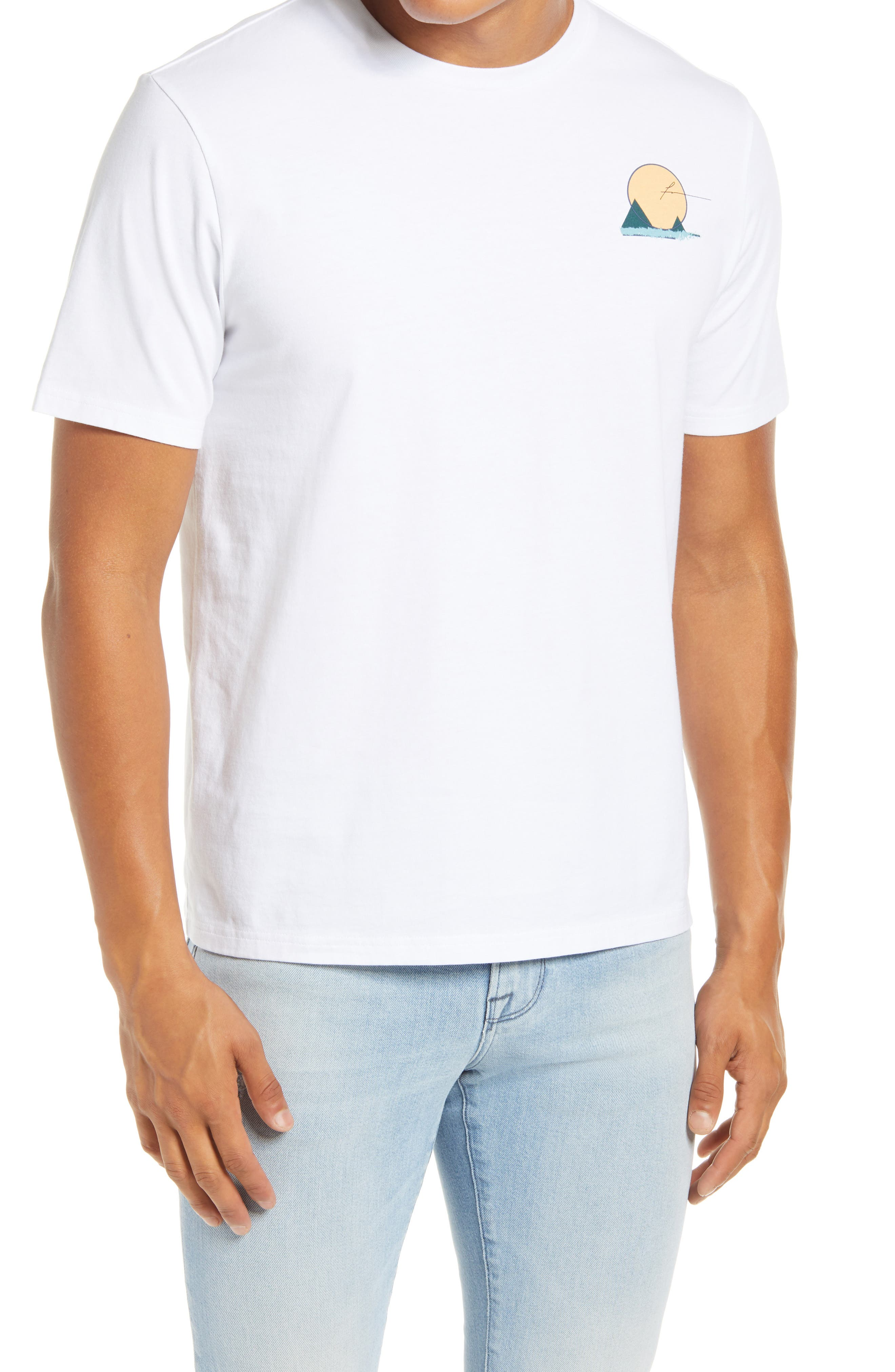 Image of FRAME Abstract Travel Graphic T-Shirt