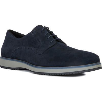 Geox Tyren Plain Toe Derby, Blue