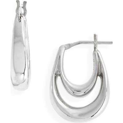 Sophie Buhai Small Blanche Hoop Earrings