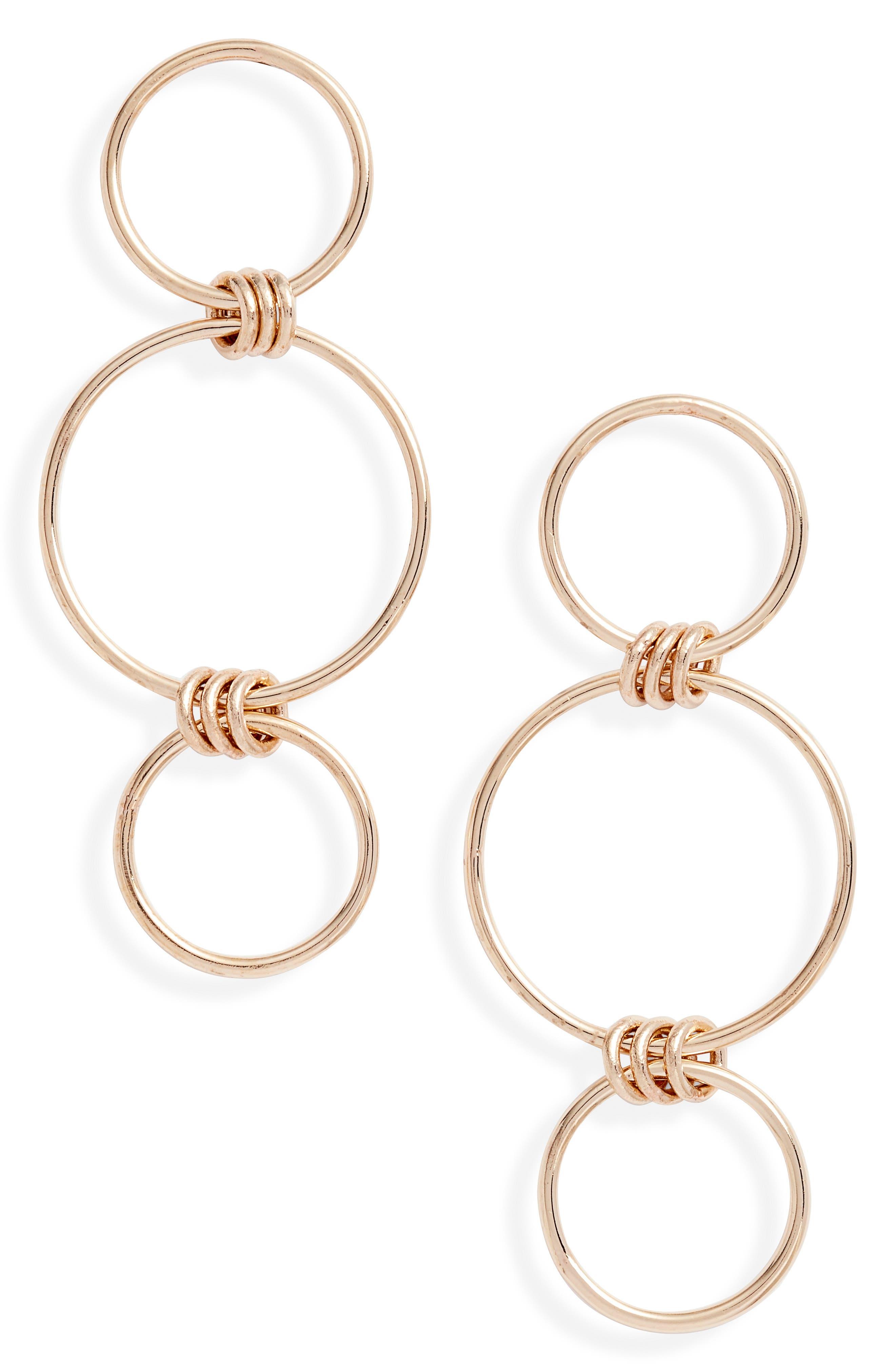 Zoe Chicco Mixed Circle Drop Earrings