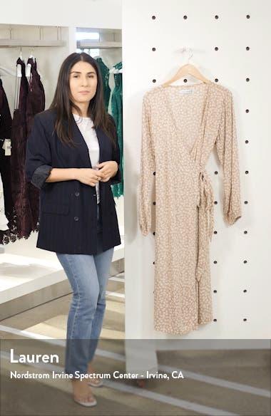 Le Figaro Floral Long Sleeve Midi Wrap Dress, sales video thumbnail