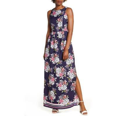 Vince Camuto Floral Print Maxi Dress, Blue